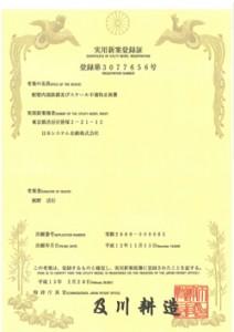 配管内部鉄錆及びスケール不着防止装置/登録実用新案第3077656号